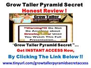 "DON'T BUY ""Grow Taller Pyramid Secret"" YET ! Honest REVIEW"