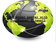 Web proxy server with functional firewall