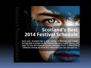 Scotland's Best 2014 Festival Schedule
