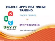 Oracle APPS DBA Online training  | Apps DBA PPT