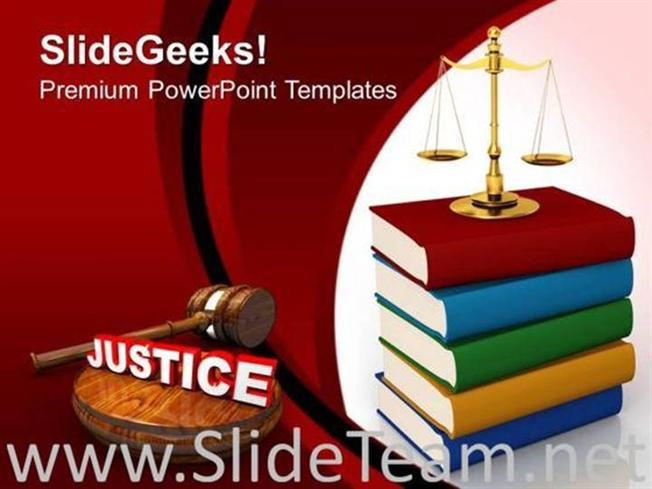 Justice Concept Law Powerpoint Background Image Powerpoint Template