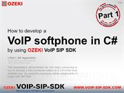 #1 How to develop a VoIP softphone in C# by using Ozeki VoIP SIP SDK