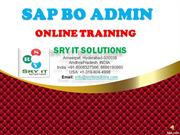 SAP BO ADMIN ONLINE TRAINING  BO ADMIN COURSE DETAILS SRY IT SOLUTIONS