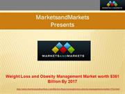 Weight loss and obesity management market by 2017