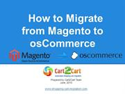 How to Migrate from Magento to osCommerce