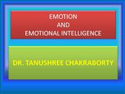 EMOTION AND EMOTIONAL INTELLIGENCE