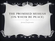 The Promised Messiah (on whom be peace)