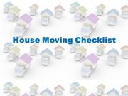 Moving House - Stress Free - Checklist