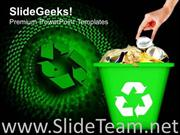 RECYCLED GARBAGE GEOGRAPHICAL ENVIRONMENT POWERPOINT BACKGROUND