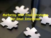 Marketing With Email Tips For Small Businesses