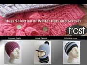 Huge Selection of Winter Hats and Scarves