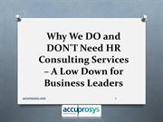 HR Consulting Services Hyderabad – Accuprosys