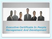 Executive Certificate In People Management And Development