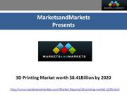 3d Printing Industry by Technology & Applications - 2020