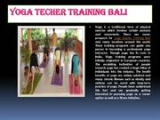 Yoga Teacher Training Bali