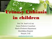 Urinary Lithiasis