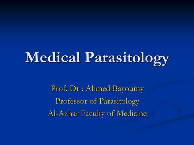 1-Introduction to Medical Parasitology for Nurses |authorSTREAM