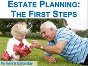 Estate Planning: The First Steps
