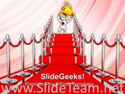 RED CARPET BLOCK BUSTER COMPETITION POWERPOINT BACKGROUND