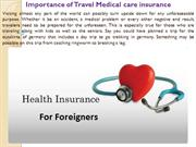 Importance of Travel Medical care insurance