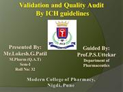 Validation and quality Audit Lokesh