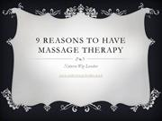 9 benefits of massage therapy - NaturesWayLondon March 2014