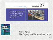 #27.2 -- The Supply and Demand for Labor (8.25)