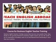 Course for Business English Teacher Training