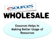 Esources Helps In Making Better Usage of Resources