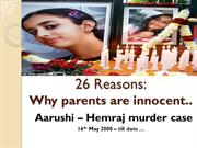 Aarushi case- Why I feel parents are innocent