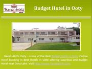 Accommodation Hotel in Ooty