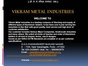 Vikram Metal Industries Alu Ladder Intro