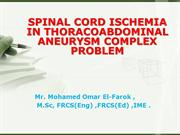 SPINAL CORD ISCHEMIA IN THORACOABDOMINAL ANEURYSM COMPLEX PROBLEM