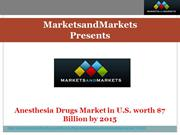 Anesthesia Drugs Market in U.S.