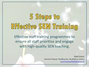 5 Steps to Effective SEN Training