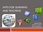 Apps for Teaching and Learning Languages 2014