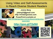 Using Video and Self-Assessments to Reach Diverse Student
