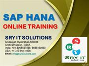 SAP HANA ONLINE TRAINING | HANA COURSE DETAILS | SRY IT SOLUTIONS