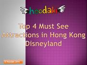 Top 4 Must See Attractions in Hong Kong Disneyland