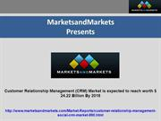 Customer Relationship Management (CRM) Market is expected to reach wor
