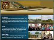 SUSIE MATHEWS ABNEY and ASSOCIATES FOUNDATION