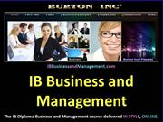 IB Business and Management Business Organ