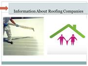 Information About Roofing Companies
