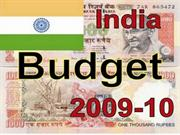India Union Budget 2009 - 2010