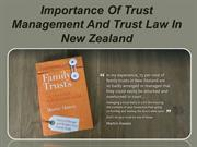 Importance Of Trust Management And Trust Law In New Zealand
