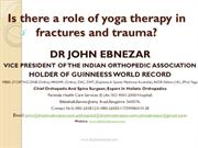 Yoga therapy for fractures