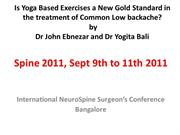 Yoga based exercises- New gold Standad for LBA