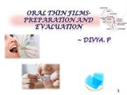 oral thin films