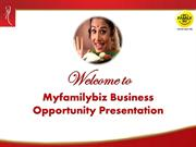 Myfamilybiz  Business Opportunity Presentation (Part-I)