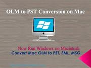 Convert OLM to PST Free for Mac